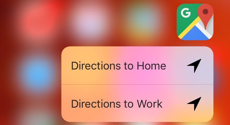 Google Maps Update Brings Support To 3D Touch