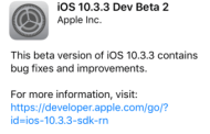 Apple Releases iOS 10.3.3 Beta 2, macOS 10.12.6,  watchOS 3.2.3, tvOS 10.2.2