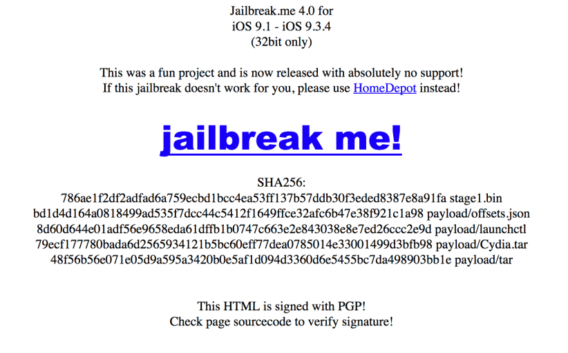 JailbreakMe 4.0 iOS 9 Jailbreak For 32-Bit Devices Released