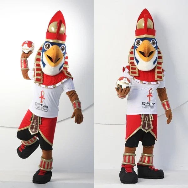 ihf egypt 2021 mascot horus a symbol