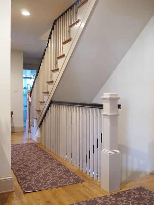 Other Open Basement Stairs Open Basement Stairs In Kitchen | Floor Opening For Basement Stairs | L Shaped | Foyer | Both Side | Interior | 8 Foot Ceiling