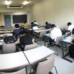 期末試験始まる