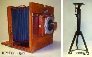 Camara fotografica portatil e tripe