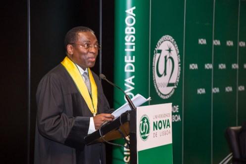 Luís Sambo foi o orador convidado e falou do contributo de Peter Aaby para a saúde infantil e cumprimento dos Objetivos de Desenvolvimento do Milénio, na Guiné-Bissau