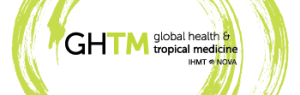 Imagem com o logotipo do site do centro de investigação GHTM