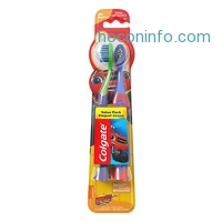 ihocon: Colgate Kids Soft Toothbrush with Suction Cup, Blaze Value Pack (2 Count)兒童牙刷