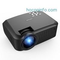 ihocon: DBPOWER 2400 Lumens LCD Mini Portable Projector 家庭劇院迷你投影機