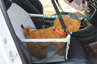 ihocon: WOpet Portable Pet Car Booster Seat with Clip-On Safety Leash and Zipper Storage Pocket 寵物汽車安全座椅