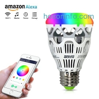 ihocon: Sansi Smart RGB Light Bulb, Wi-Fi, A19, Dimmable, Group Control and Music Control