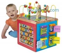 ihocon: ALEX Jr. My Busy Town Wooden Activity Cube