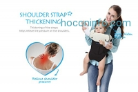 ihocon: CYLEN 100% Cotton 5 in 1 Baby Carrier Featuring a Hip Seat and Hood嬰兒背帶