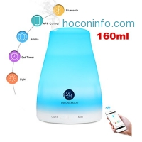 ihocon: Lagunamoon essential oil diffuser,bluetooth app control with 2 essential oils 精油擴香機/室內加濕器
