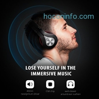 ihocon: Mpow Bluetooth Headphones Over Ear, Foldable w/ Built-in Mic and Wired Mode 有線/無線兩用可折疊麥克風耳機