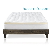 ihocon: Mattress Pad with Fitted Skirt - Double Thick Extra Plush Mattress Topper - 2 Piece Pad + Memory Foam Topper, [Queen]