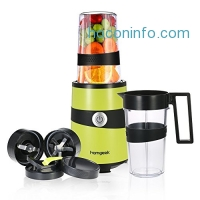 ihocon: Homgeek Smoothie Blender with 2 Cups and Travel Bottle Lid