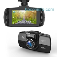 ihocon: DBPOWER 2.7-Inch LCD 150 Degree Wide Angle Dash Cam with G-Sensor, Loop Recording, HDR, Night Vision and Supports Micro SD Card upto 64GB 行車記錄器
