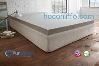 ihocon: PuraSleep 3 Carbon Comfort Memory Foam Topper, Grey, Queen