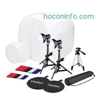 ihocon: Craphy Photography Studio Lightbox Kit (17 30 Foldable Tents + Light + Light Tripod + Camera Tripod + 4 Backdrops)整套小型攝影棚
