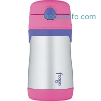 ihocon: THERMOS FOOGO Vacuum Insulated Stainless Steel 10-Ounce Straw Bottle, Pink/Purple
