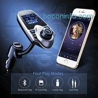 ihocon: Mpow Bluetooth FM Transmitter, MP3 Player & Hands-free Calling & Radio Car Kit with TF Card Slot
