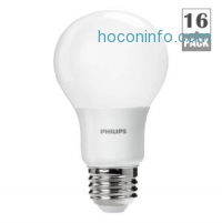 ihocon: Philips 60W Equivalent Daylight A19 LED Light Bulb (16-Pack)