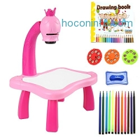 ihocon: Hindom Drawing Board Painting Toy Fun Learning Desk Set兒童繪圖桌