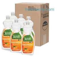 ihocon: Seventh Generation Dish Liquid, Clementine Zest & Lemongrass Scent, 25 oz (Pack of 6)洗碗精