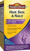 ihocon: Nature Made Hair, Skin & Nails w. 2500 mcg of Biotin Softgels 60 Ct