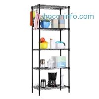 ihocon: LANGRIA 5 Tier Wire Shelving Commercial Storage Rack 五層金屬收納架