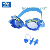 ihocon: HUAYI Anti-fog UV Protection Kids Swimming Goggle with Nose Clip and Ear Plugs兒童蛙鏡含鼻夾及耳塞