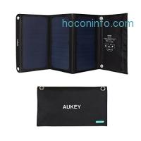 ihocon: Aukey 21W Dual USB Solar Charger 太陽能充電板