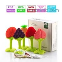 ihocon: Lideemo Soft Silicone Baby Teething Toys(5 pack)嬰兒固齒器