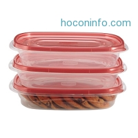 ihocon: Rubbermaid TakeAlongs 4 Cup Rectangle Food Storage Container, 3 Pack食物保鮮盒