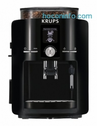 ihocon: KRUPS EA8250 Espresseria Super Automatic Espresso Machine Coffee Maker with Built-in Conical Burr Grinder, 60-Ounce, Black