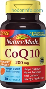 ihocon: Nature Made Coq10 200 Mg, Naturally Orange,Value Size, 80-Count