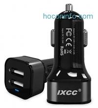 ihocon: iXCC Dual-Port USB High Speed Car Charger汽車快速充電器