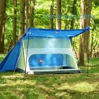 ihocon: Andake Family Camping Tent, Waterproof Silicone-Coated 15D Nylon Ripstop Fabric Family Tent