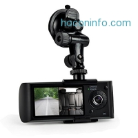 ihocon: Car Recorder DVR Front & Rear View Dash Camera Video 2.7 Inch Monitor Windshield Mount - Full Color HD 1080p Security Camcorder for Vehicle - PiP Night Vision Audio Record Micro SD Pyle PLDVRCAMG36
