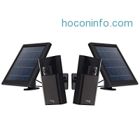 ihocon: Ring Stick up Cam and Solar Panel Bundle (includes 2 cams and 2 solar panels)太陽能居家防盜監視鏡頭