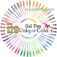 ihocon: Shuttle Art 120 Unique Colors (No Duplicates) Gel Pen Set