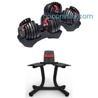 ihocon: Bowflex SelectTech 552 Adjustable Dumbbells (Pair) and Stand Bundle