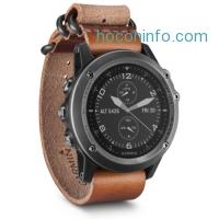 ihocon: Garmin Fenix 3 Sapphire Multisport Training GPS Watch, Gray with Leather Strap