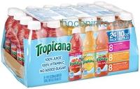ihocon: Tropicana 100% Juice 3-Flavor Variety Pack, 10 Ounce Bottles, 24 Count