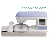 ihocon: Brother PE770 5x7 inch Embroidery machine with built-in memory, USB port, 6 lettering fonts and 136 built-in designs