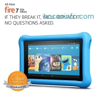 ihocon: All-New Fire 7 Kids Edition Tablet, 7 Display, 16 GB, Blue Kid-Proof Case