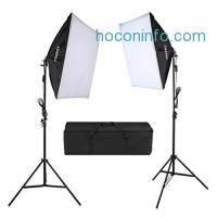ihocon: CRAPHY 5500k Photography Continuous Softbox Lighting Kit