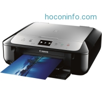 ihocon: Canon PIXMA MG6821 Wireless Photo All-in-One Inkjet Printer (Black/Silver)