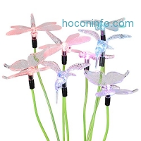 ihocon: Hallomall Solar Powered Color Changing Outdoor Stake Lights, Solar Decorative Landscape Lighting Lawn Yard Light Vivid Figurines of Hummingbird, Dragonflies and Butterfly- 2 Sets [4LED Version]