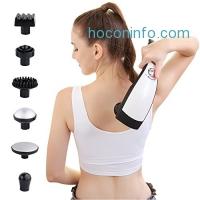 ihocon: TEC.BEAN 6 Interchangeable Nodes Handheld Deep Percussion Massager with Heat 手持加熱按摩器