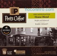 ihocon: Peets Coffee & Tea Single Cup Coffee, Decaf House Blend, 16 Count